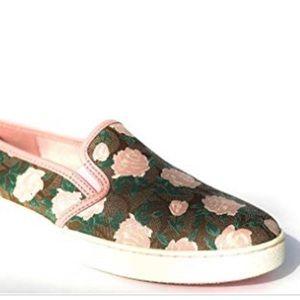 Coach Floral Slip On Shoes- Rare!
